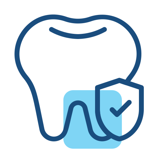 Dental prevention and hygiene icon